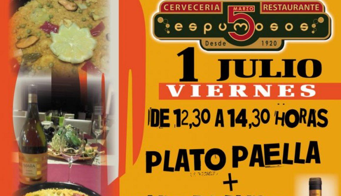 Viernes Locos !!! Paella y buen vino por sólo 2,5